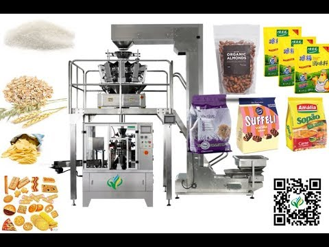 ground coffee doypack machine rotary packaging production line Machine à emballer rotative