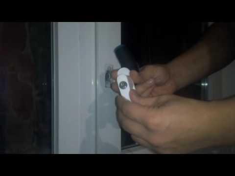 Как врезать замок в балконную дверь