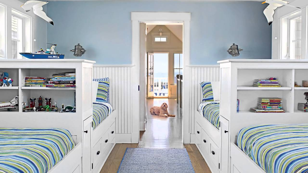 How to build a beach inspired bunk room seaside design - Bunk bed decorating ideas ...
