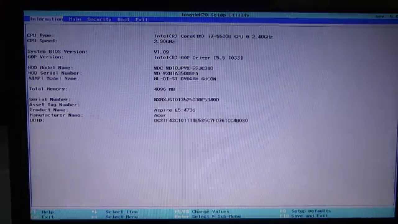 การ Disabled Secure Boot (NoteBook