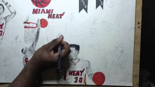 8.Drawing Miami Heat NBA champions 2012-2013