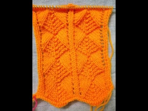 Easy Single Color Knitting Pattern No 70 Youtube