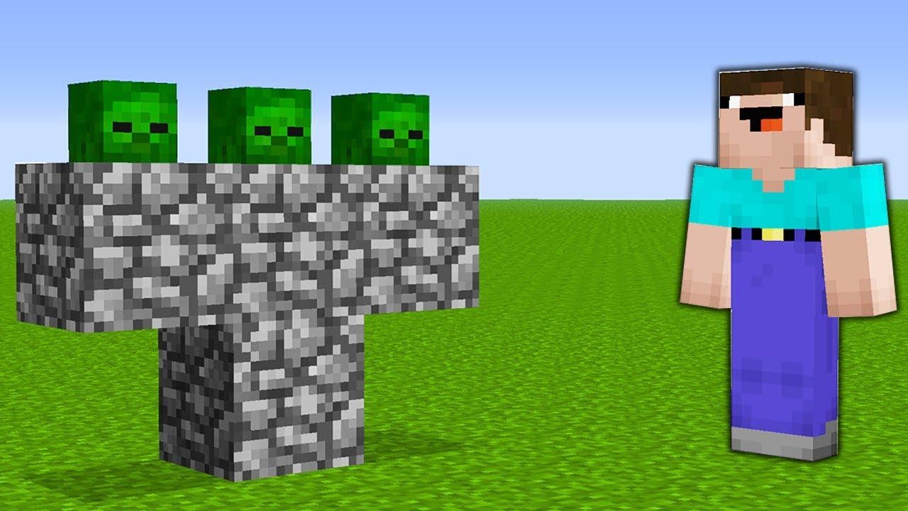Майнкрафт как сделать статую зомби фото 551