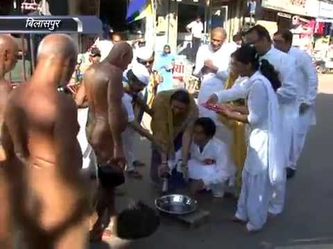 Jain Muni Acharya Vidyasagar Ji in Bilaspur Chhattisgarh