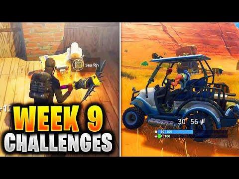 ALL WEEK 9 Challenges Guide Fortnite SEASON 5 (Fortnite Week 9 Challenges) Tutorial