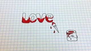 Простые рисунки #129 Как нарисовать - Love(Как нарисовать простой рисунок обычной гелевой ручкой за несколько минут. Спасибо, что смотрите мои видео...., 2014-09-09T05:00:02.000Z)