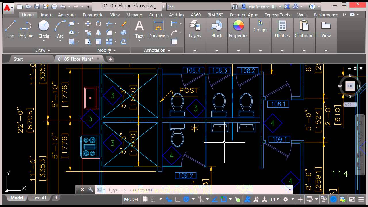 Zoom and Pan in AutoCAD 2016 - Tutorial