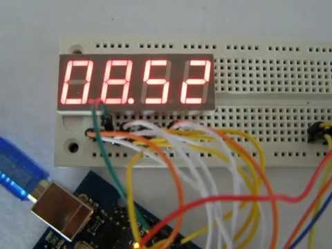 hour, temperature & humidity on 7-segment LED display with Arduino ...