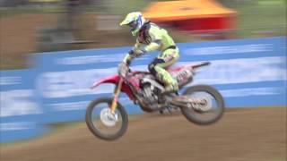 Honda Gariboldi's Tim Gajser on Fire MXGP of Latvia 2016