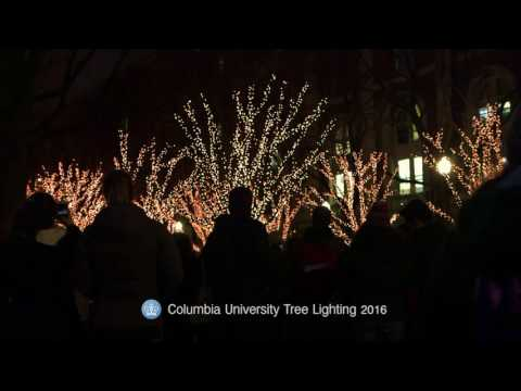 Columbia University Tree Lighting Ceremony 2016