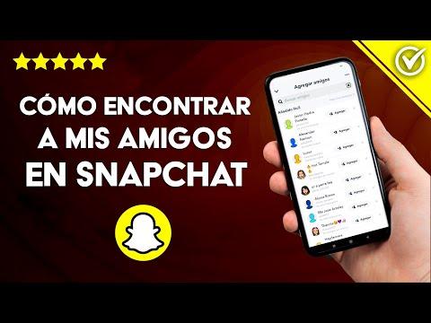 Cómo Buscar o Encontrar a mis Amigos o a Alguien Conocido en Snapchat