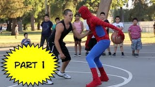 Repeat youtube video Spiderman Basketball Part 1