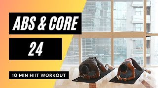 No.47 | Abs and Core HIIT Workout with Beginner Modifications | FAT BURN!