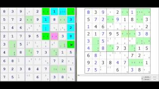 Sudoku Demonstration - Introduction to the Skyscraper Technique