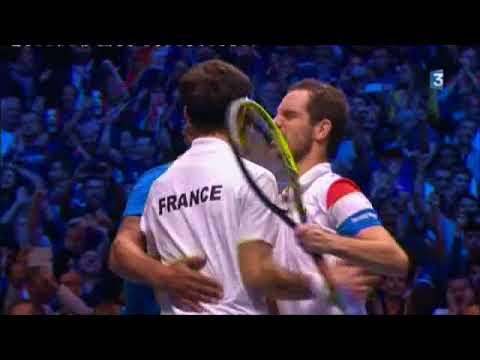 balle de match du double finale de coupe Davis