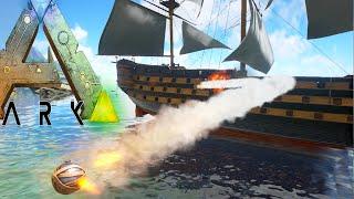 Ark Survival Evolved - BATTLE SHIP & SPEED BOAT (Ark Modded Gameplay)