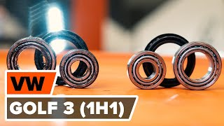 rear and front Wheel bearing kit change on VW GOLF III (1H1) - video instructions