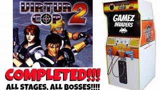 Virtua Cop 2 Arcade Game Complete Play Through!!!