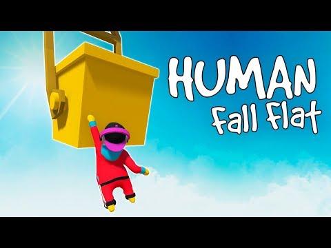 ГОЛОВОЛОМКИ И ПАРКУР НА ДВОИХ! САМАЯ СМЕШНАЯ ИГРА В МИРЕ! (Human Fall Flat Смешные моменты)
