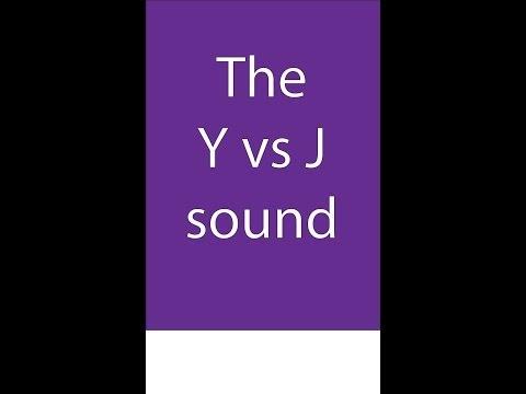 The Y sound in British English accent - Y inicial (yellow) con acento inglés