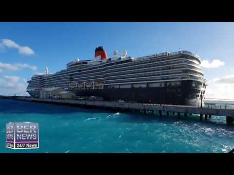 Queen Victoria Cruise Ship In Dockyard, January 18 2020