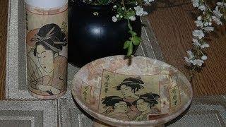 How To Decoupage Diy Ideas In Oriental Style