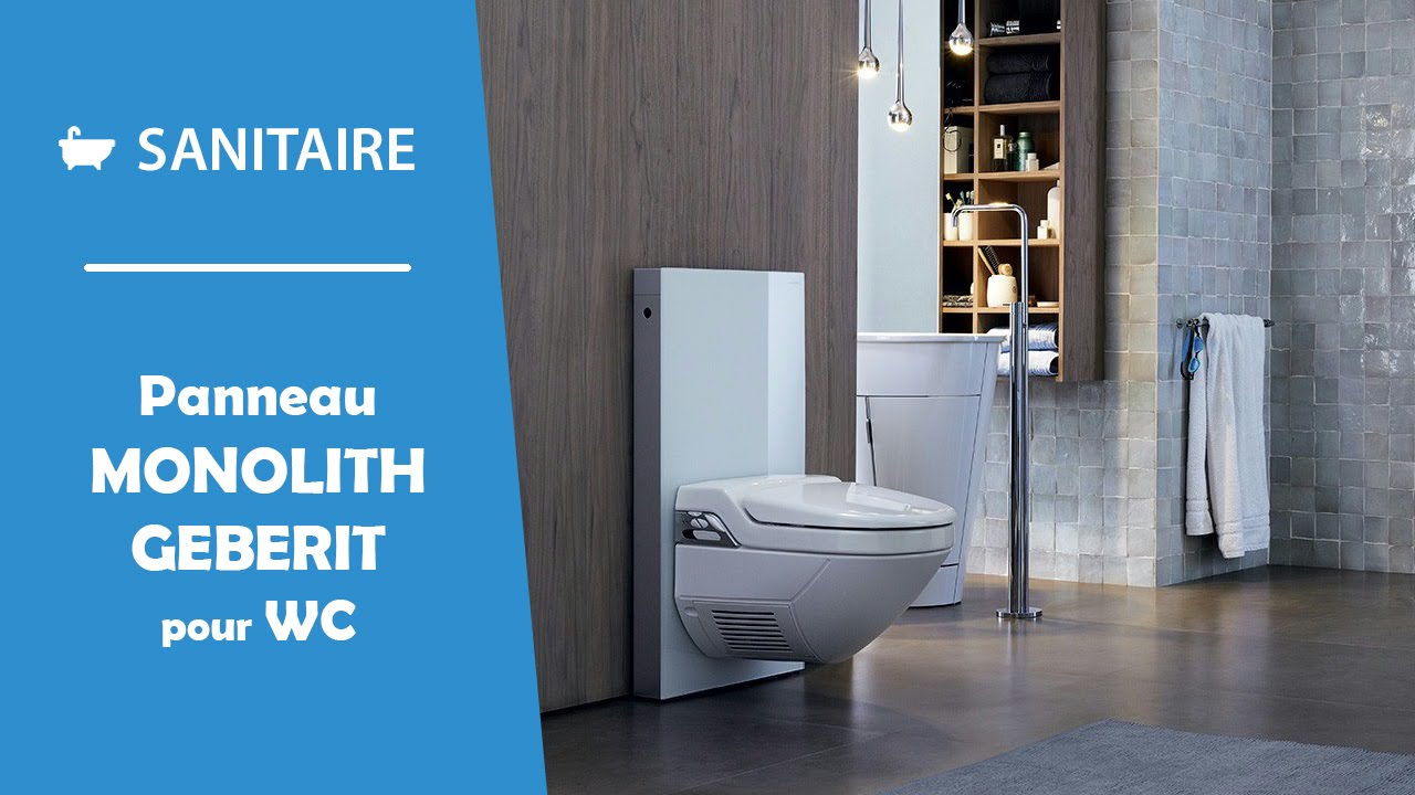 Meuble De Wc Monolith Wc Suspendu Geberit - Youtube