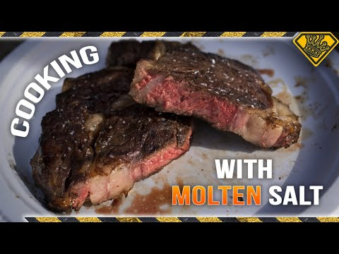 Cooking Steak With Molten Salt