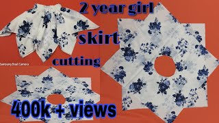 2 year girl rumal cot skirt Hanky cot skirt cutting and stitching