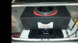NEW CAR AUDIO SYSTEM COMPLETION - Rockford Fosgate t2500-1bdcp Orion Hcca 15 Custom Made Box