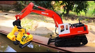 Emergency Excavator | Rescue Car | Excavator Car Toys Playing Video For Kids