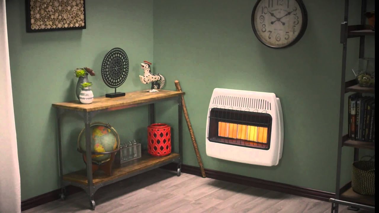 dyna glo 30 000 btu infrared vent free wall heater youtube
