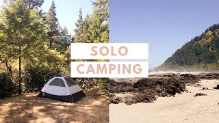 Oregon Coast Camping | S๐lo Camping + What I Pack