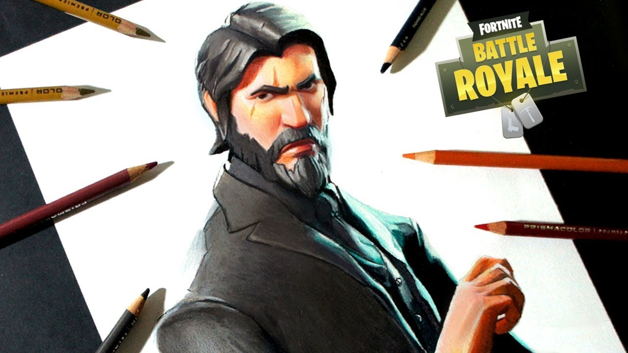Dibujo del Segador (John Wick) de Fortnite | How to draw the Reaper Skin