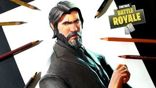 Fortnite's Drawing of the Reaper (John Wick) How to draw the Reaper Skin
