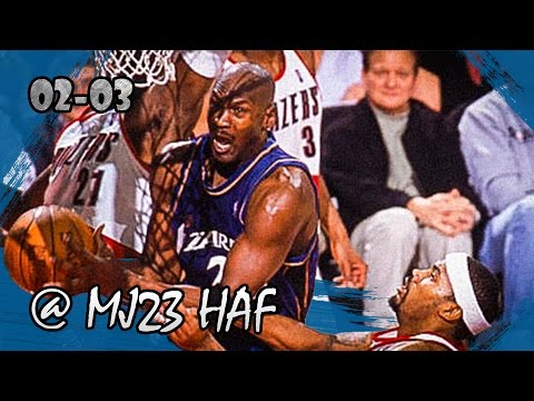 Michael Jordan Highlights vs Trail Blazers (2003.03.25) - 25pts, Last Game in Rose Garden!