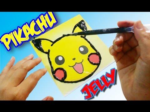 วิธีทำวุ้น Drowing  ปิกาจู - Pikachu Drowing Jelly | วุ้นแฟนซี