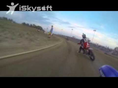 Motorcycle dirt track race Mid-America Speedway open class Aug/17/2013