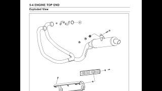 Kawasaki KLE 400 ремонт глушителя / Видео