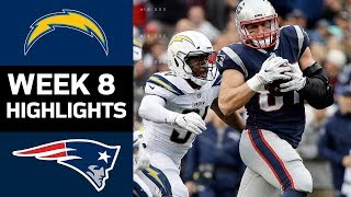 Chargers vs. Patriots | NFL Week 8 Game Highlights