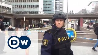 Теракт в Стокгольме   грузовик врезался в толпу людей (07 04 2017)