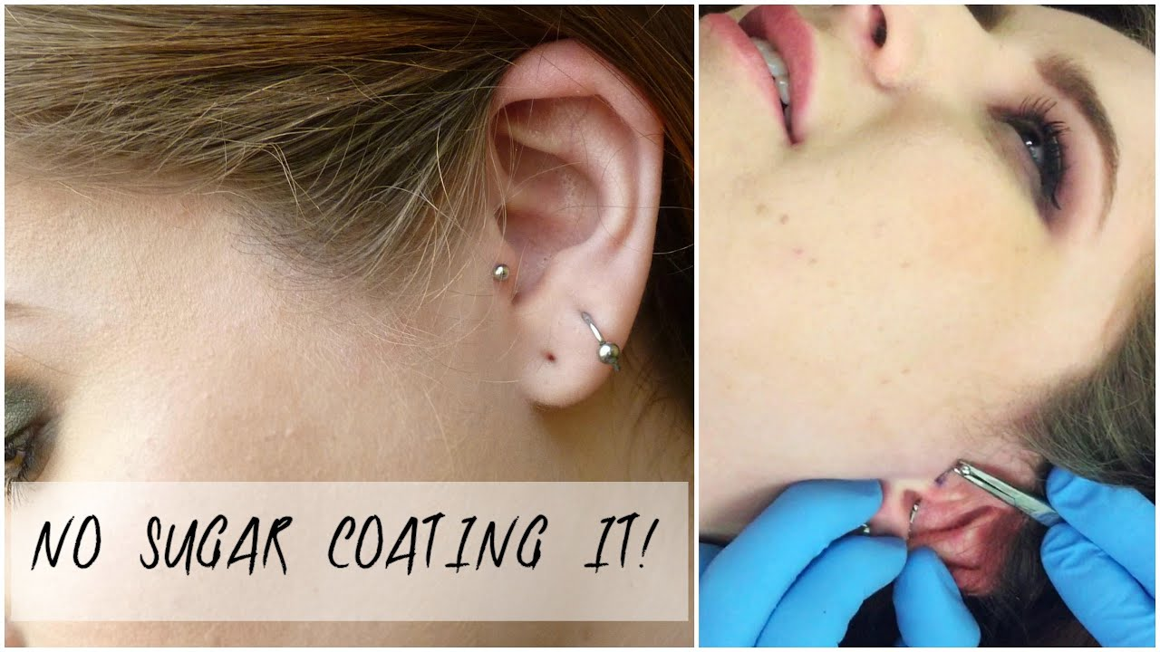 My Tragus Piercing Experience Healing Process Cleaning Pain