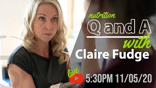 LIVE Q and A with Clinical Dietician Claire Fudge - Triathlon Nutrition