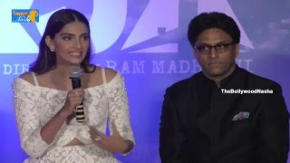 Sonam Kapoor and team in Press Meet of Neeraja Movie Trailer launch