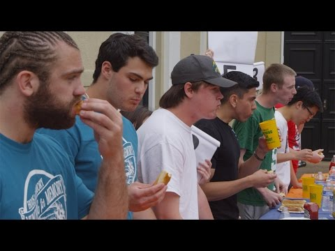 FOOTBALL - Munching For Memory Hot Dog Eating Contest Charity Event