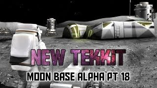 Tekkit - Moon Base Alpha Pt 18 - Sand Fell on My Face!