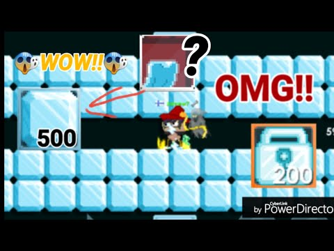 Growtopia - Breaking 500 Crystal Blocks! [PROFIT?!] OMG!!