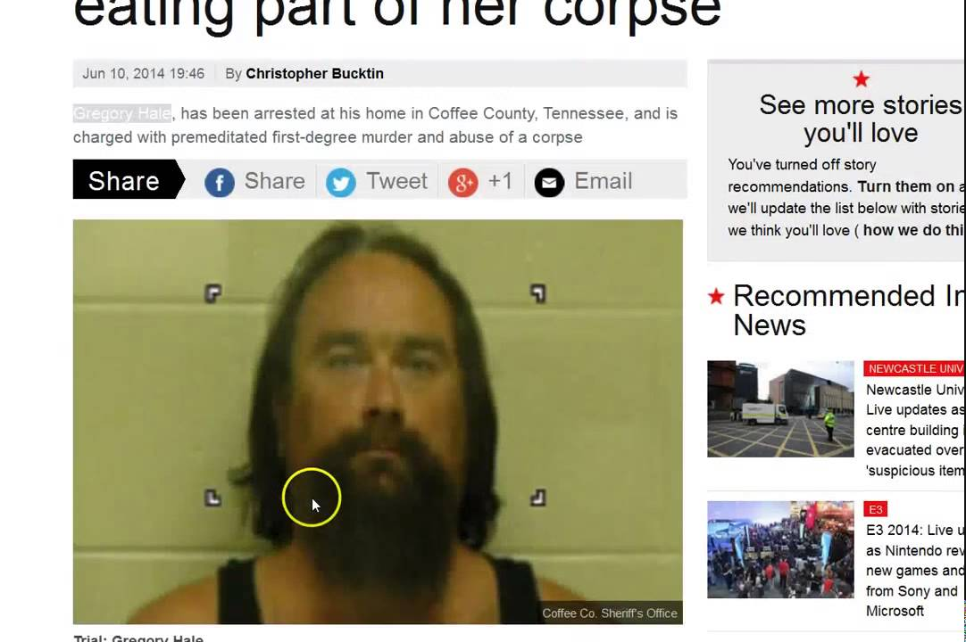 Satanist Arrested For Sacrificing & Eating Woman in Tennessee