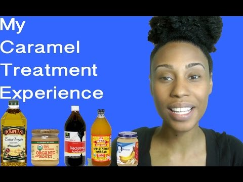 Caramel Treatment on Natural Hair