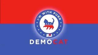 I'm With Purr - Vote DemoCAT